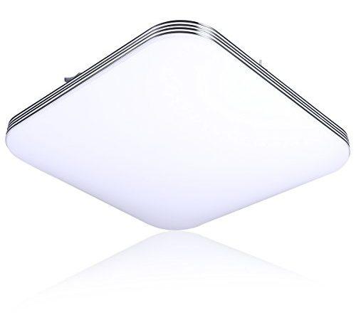 B-right 20W Square LED Flush Mount Ceiling Light, 5000K