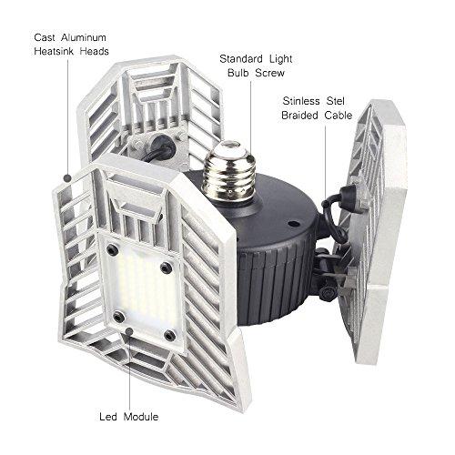 Led Deformable Radar Garage Light Motion Activated Ceiling: Led Deformable Garage Light, Motion-Activated Ceiling