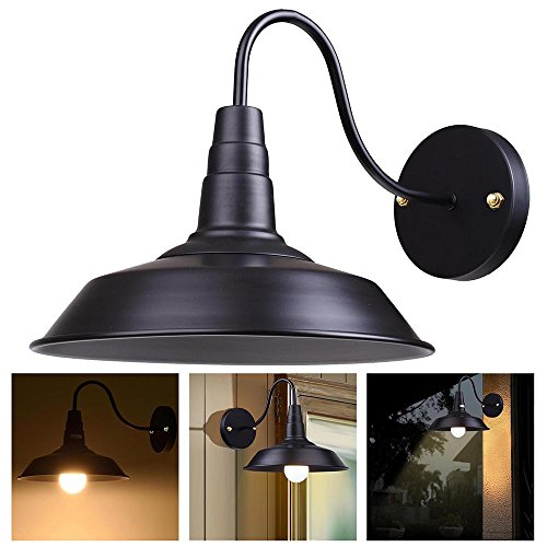Garage Sconces Exterior Wall Mounted Light Fixtures Doors: Yescom Retro Vintage Industrial Barn Style Light Wall